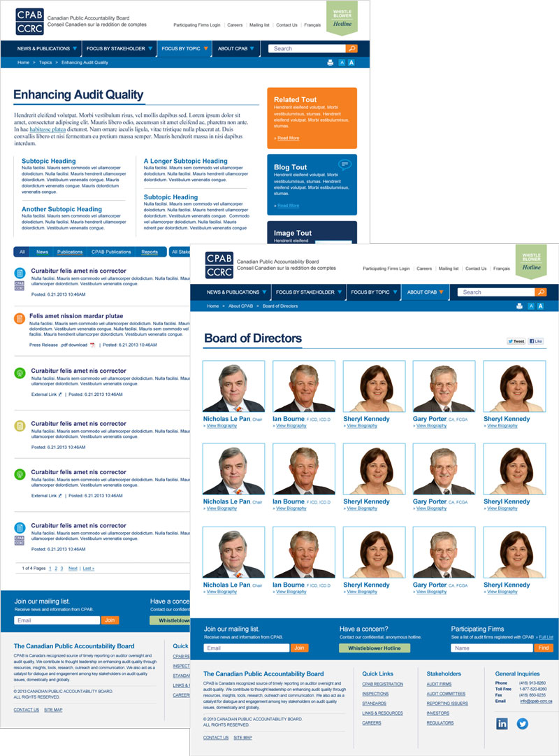 Canadian Public Accountability Board Website Redesign