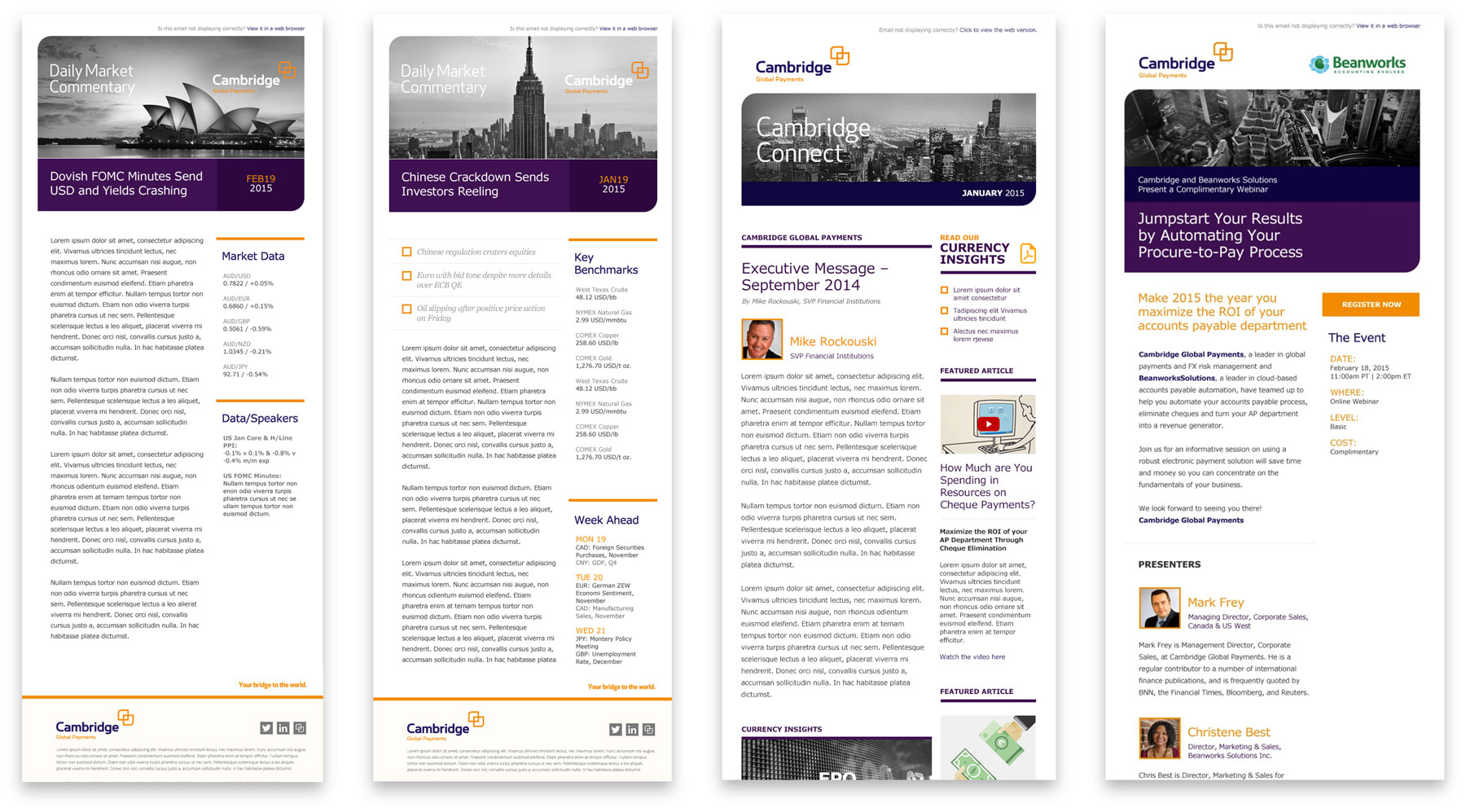 Cambridge Global Payments Email Templates