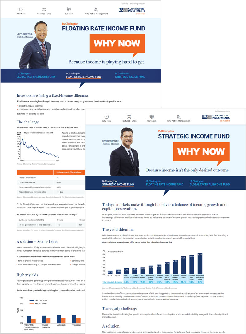 iA Clarington Investments Why Now Promotional Microsite