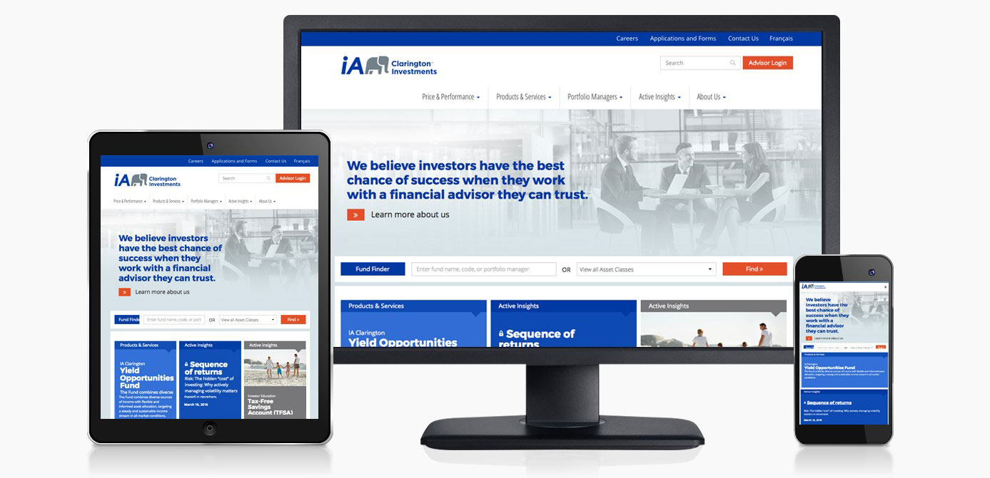 iA Clarington - Website Redesign
